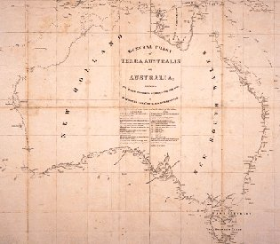 Flinder's Map of Australia